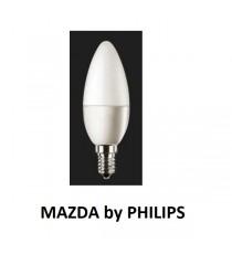 LAMPADA LED OLIVA B35 40W E14 4000K MAZDA