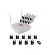 Kit Wifi 2mp Nvr 9ch +8 Ip Bull. 3,6mm Wdr Ir