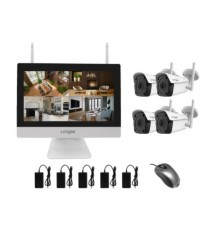 KIT ALL-IN-ONE WIFI 4CH 1 NVR/LCD 12 4 IP BUL.5MP